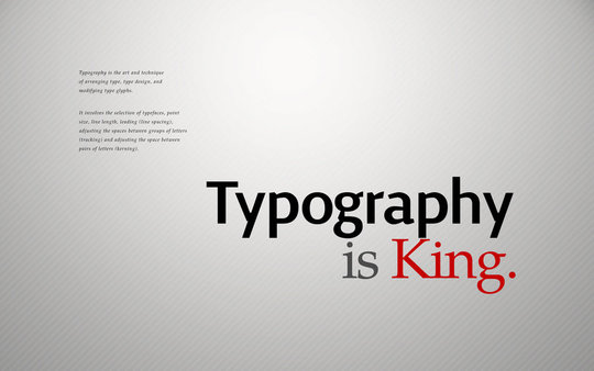 Wallpaper: allonlim - Typography is King