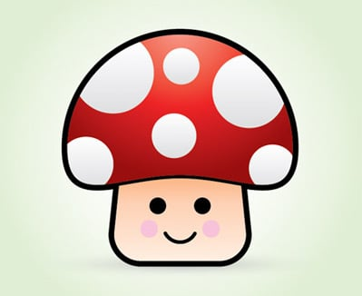 vector mushroom 35 (More) Adobe Illustrator Cartoon Character Tutorials