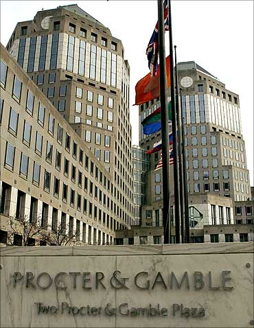 Procter & Gamble's corporate headquarters is seen in Cincinnati, Ohio.