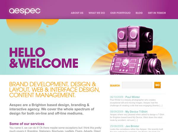 Purple Website Showcase - Aespec