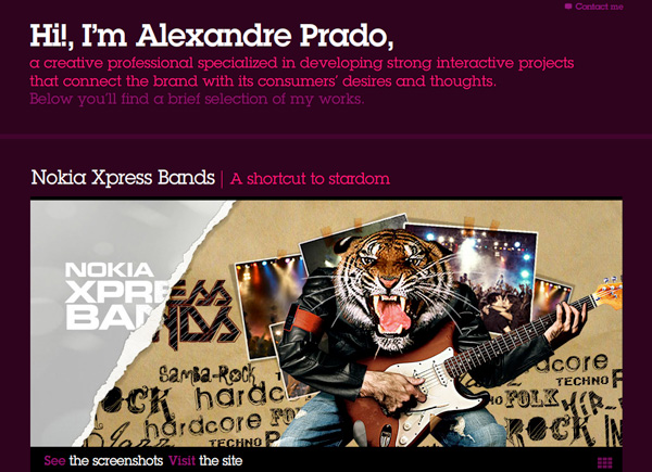 Purple Website Showcase - Alexandre Prado