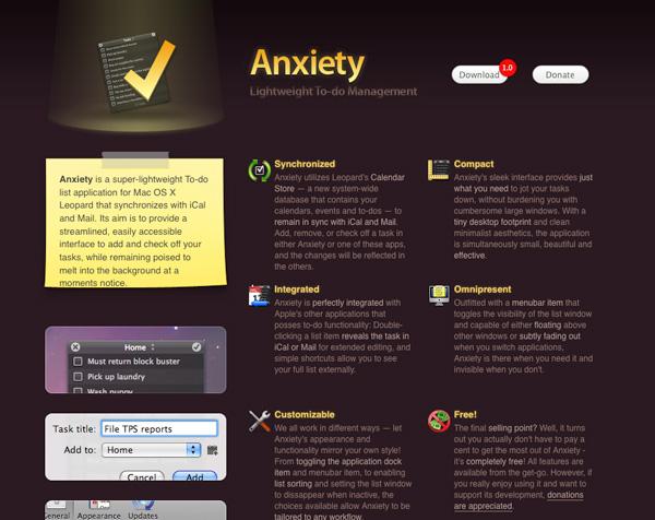 Purple Website Showcase - Anxiety