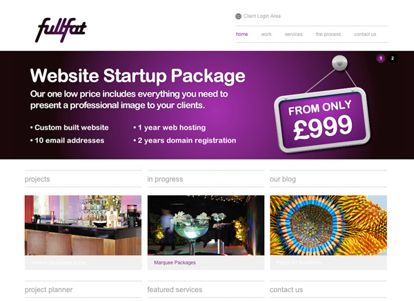 Purple Website Showcase - Full Fat