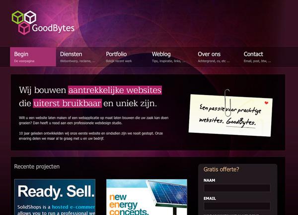 Purple Website Showcase - Good Bytes