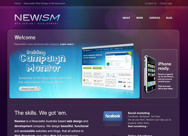 Purple Website Showcase - Newism