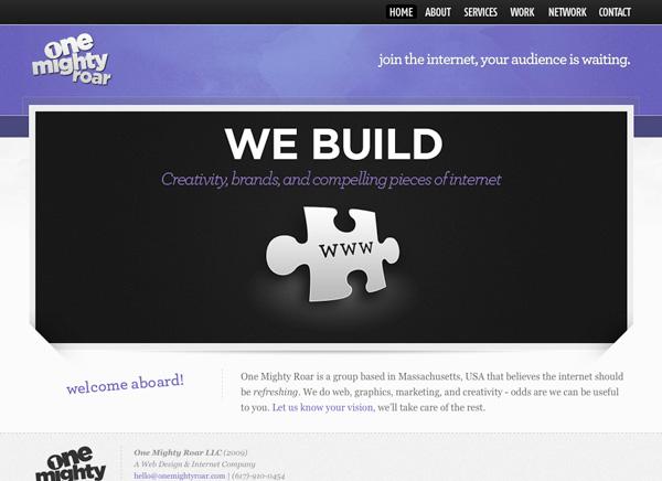 Purple Website Showcase - One Mighty Roar