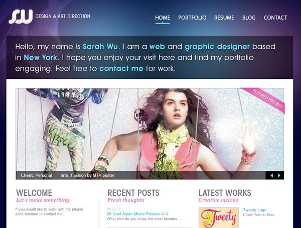 Purple Website Showcase - SW Graphic