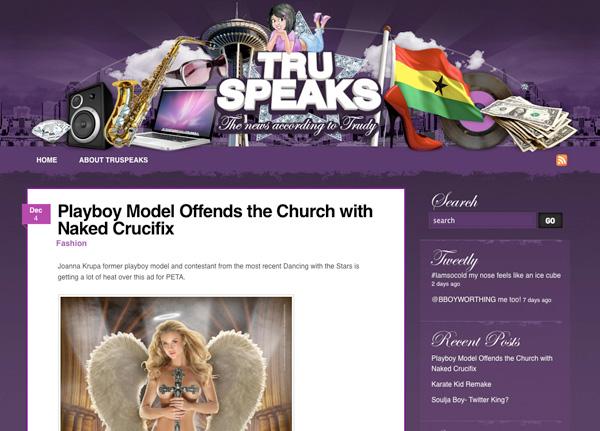 Purple Website Showcase - Tru Speaks