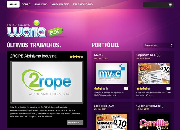 Purple Website Showcase - WCRIA