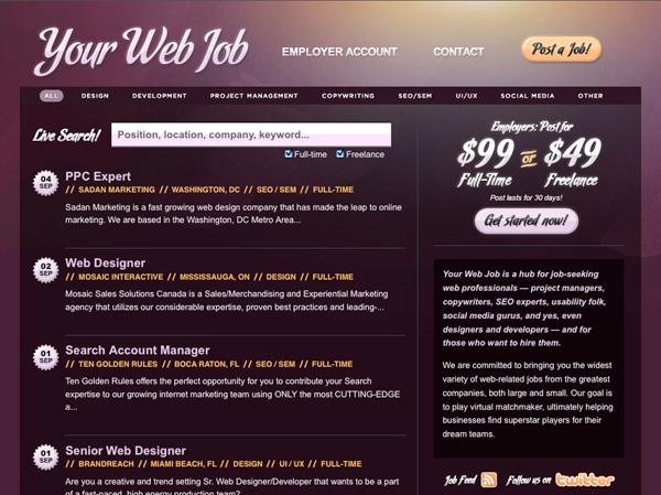 Purple Website Showcase - Your Web Job