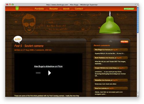 alexbuga 100 Nice and Beautiful Blog Designs
