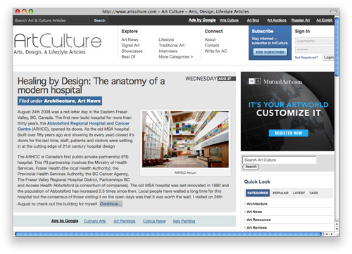 artculture 100 Nice and Beautiful Blog Designs