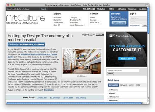 artculture 100 Nice and Beautiful Blog Designs