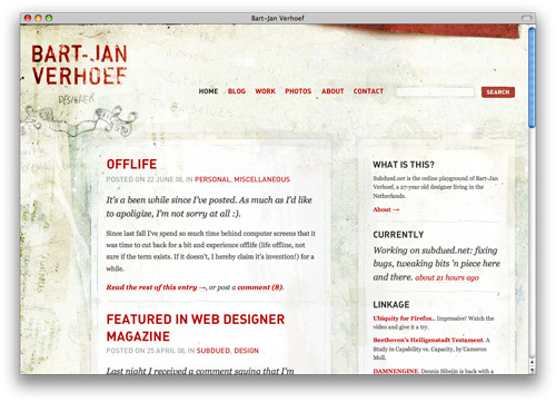 bart 100 Nice and Beautiful Blog Designs