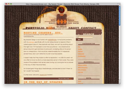 bigsweater 100 Nice and Beautiful Blog Designs