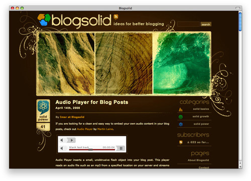 blogsolid 100 Nice and Beautiful Blog Designs