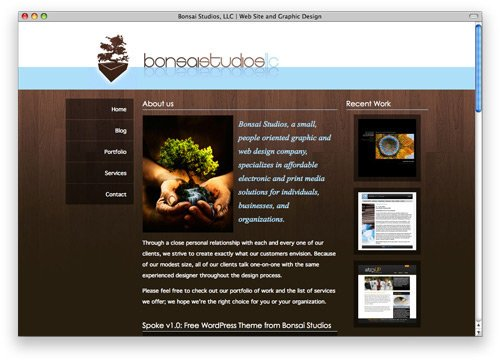 bonsai 100 Nice and Beautiful Blog Designs