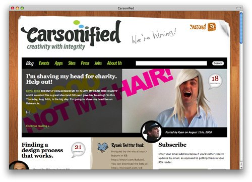 carsonified 100 Nice and Beautiful Blog Designs