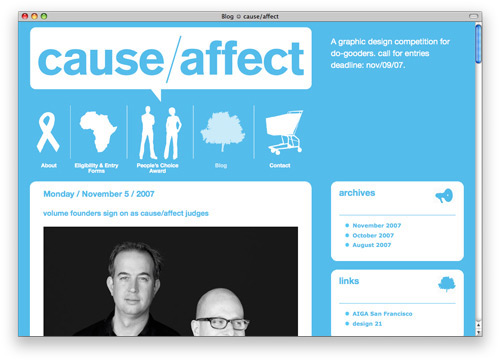 causeeffect 100 Nice and Beautiful Blog Designs