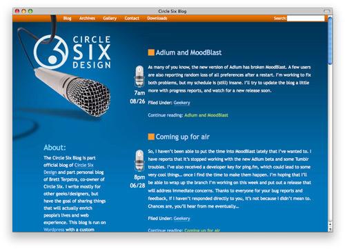 circlesix 100 Nice and Beautiful Blog Designs