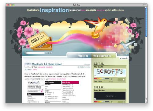 cultfoo 100 Nice and Beautiful Blog Designs