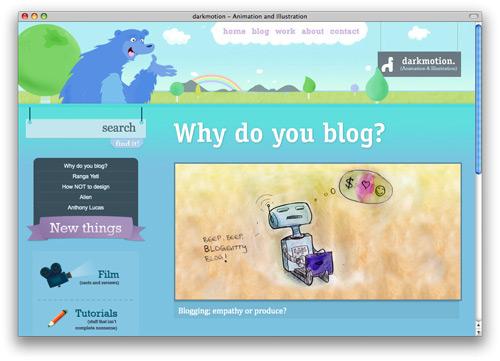 darkmotion 100 Nice and Beautiful Blog Designs