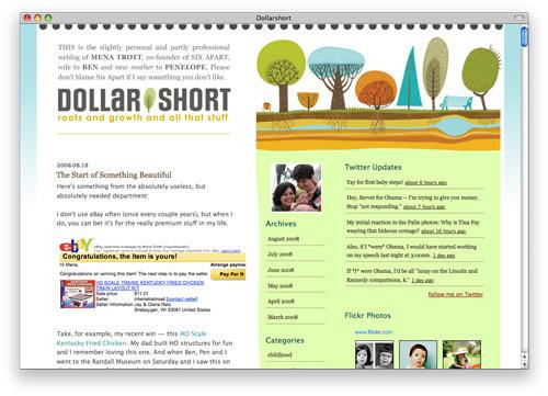dollarshort 100 Nice and Beautiful Blog Designs