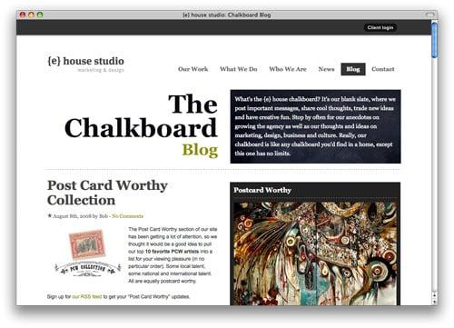 ehousetudio 100 Nice and Beautiful Blog Designs