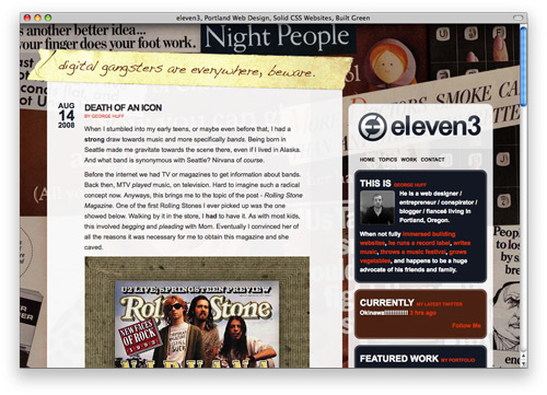 eleven3 100 Nice and Beautiful Blog Designs