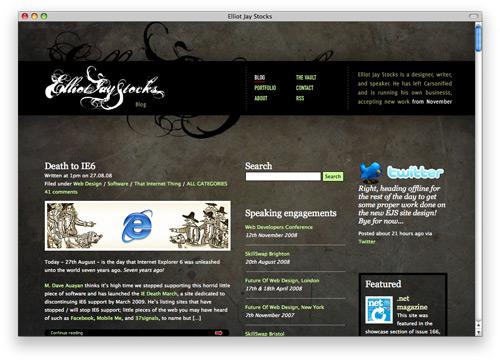 elliotjay 100 Nice and Beautiful Blog Designs