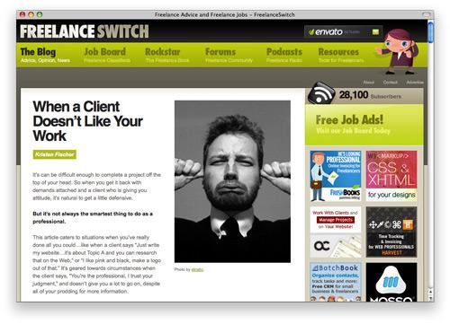 freelanceswitch 100 Nice and Beautiful Blog Designs