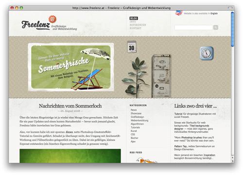 freelenz 100 Nice and Beautiful Blog Designs