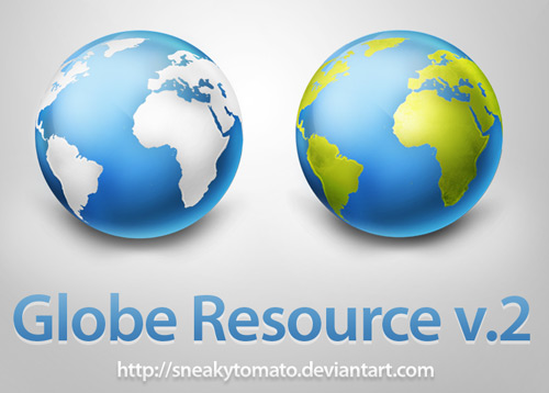 globe 60 High Quality Photoshop PSD Files For Designers