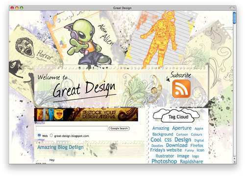 greatdesign 100 Nice and Beautiful Blog Designs