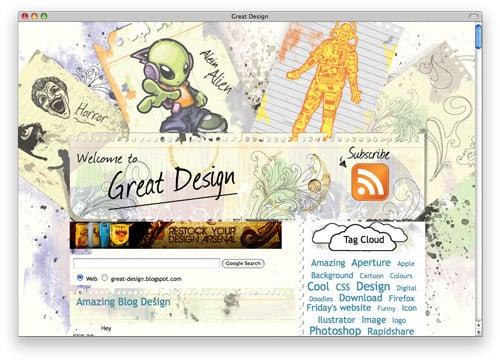 greatdesign 100 Nice and Beautiful Blog Designs