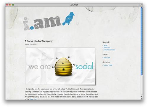 iamfinch 100 Nice and Beautiful Blog Designs