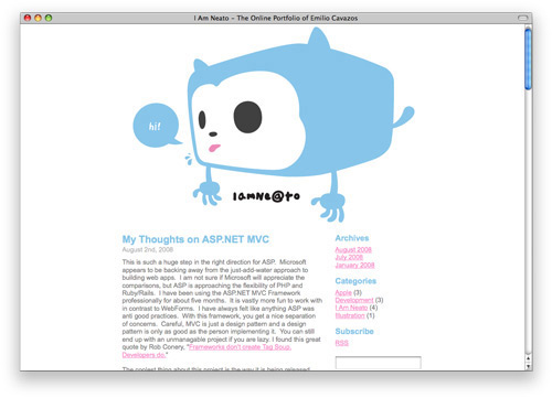 iamneato 100 Nice and Beautiful Blog Designs