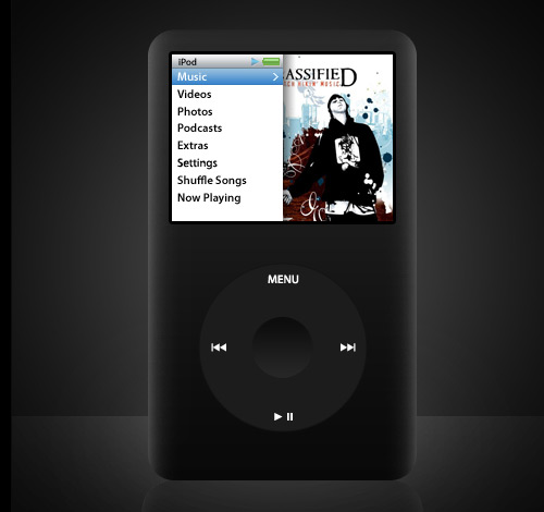 ipod classic 60 High Quality Photoshop PSD Files For Designers