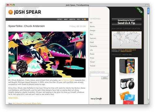 joshspear 100 Nice and Beautiful Blog Designs