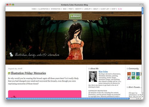 kimberly 100 Nice and Beautiful Blog Designs