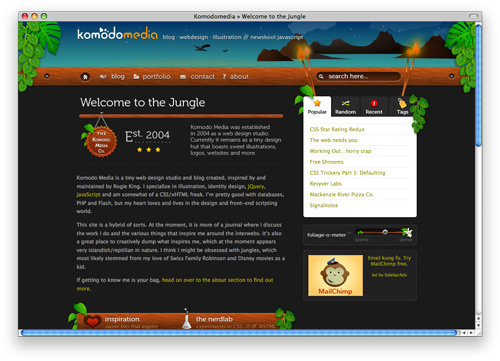 komodomedia 100 Nice and Beautiful Blog Designs