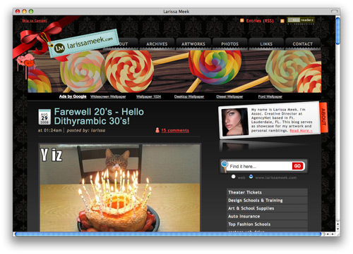 larissa 100 Nice and Beautiful Blog Designs