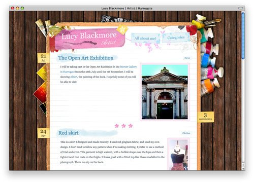 lucy blackmore 100 Nice and Beautiful Blog Designs
