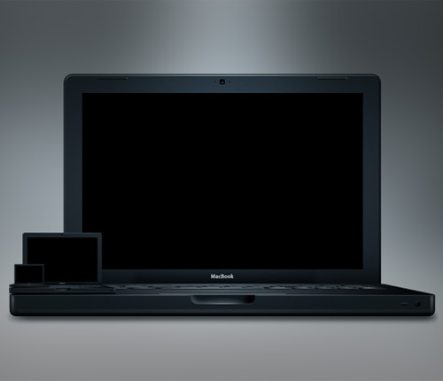 macbook black 60 High Quality Photoshop PSD Files For Designers