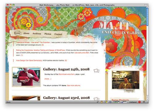 matt 100 Nice and Beautiful Blog Designs