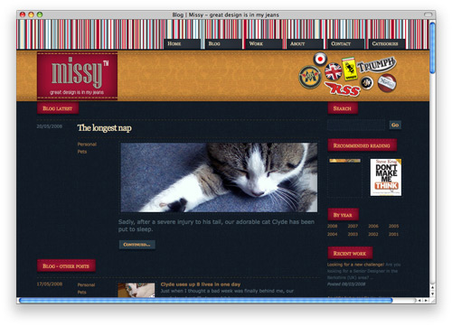 missy 100 Nice and Beautiful Blog Designs