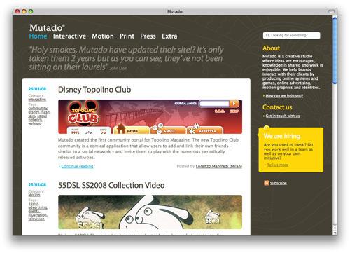 mutado 100 Nice and Beautiful Blog Designs