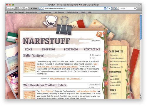 narf 100 Nice and Beautiful Blog Designs