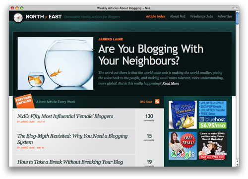northxeast 100 Nice and Beautiful Blog Designs