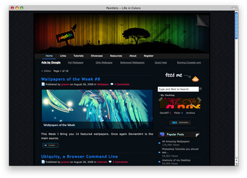paintbits 100 Nice and Beautiful Blog Designs
